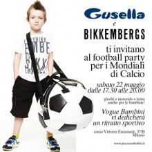 Gusella e Bikkembergs – Football Party con Vogue Bambini